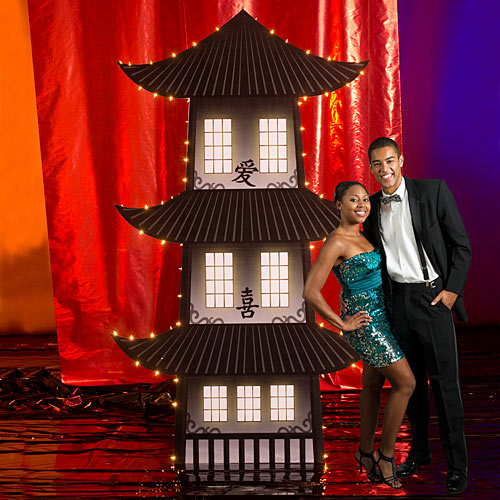 7 ft. 8 in. Shanghai Moon Pagoda Standee