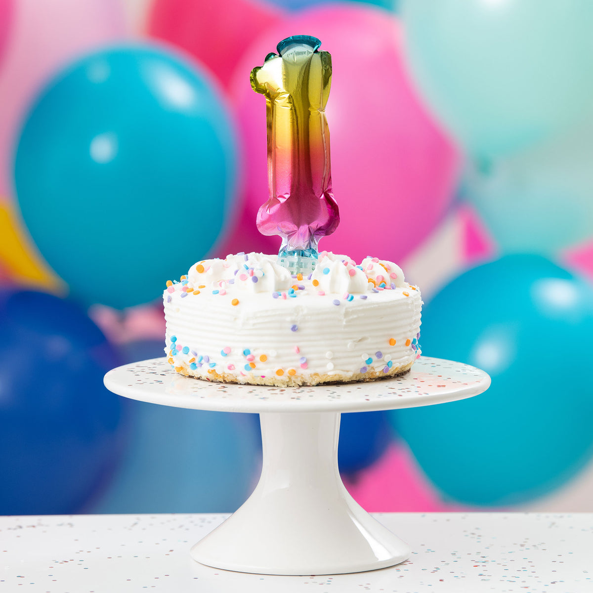 5'' Rainbow Mylar Balloon Cake Topper- 1