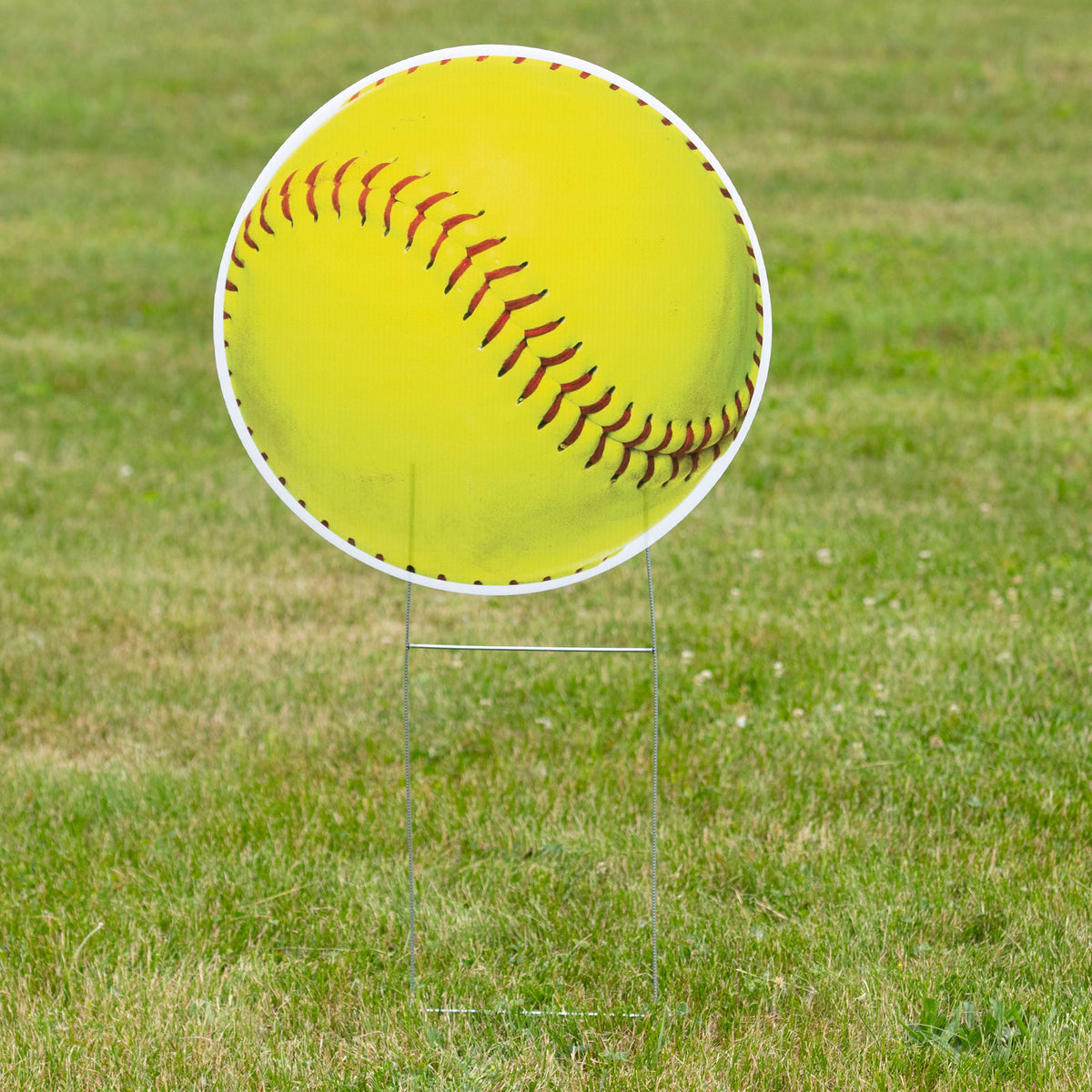 1 ft. 10 in. Softball Yard Sign Expression Icon