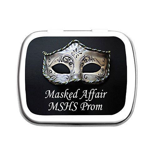 Silver Mask Mint Tin
