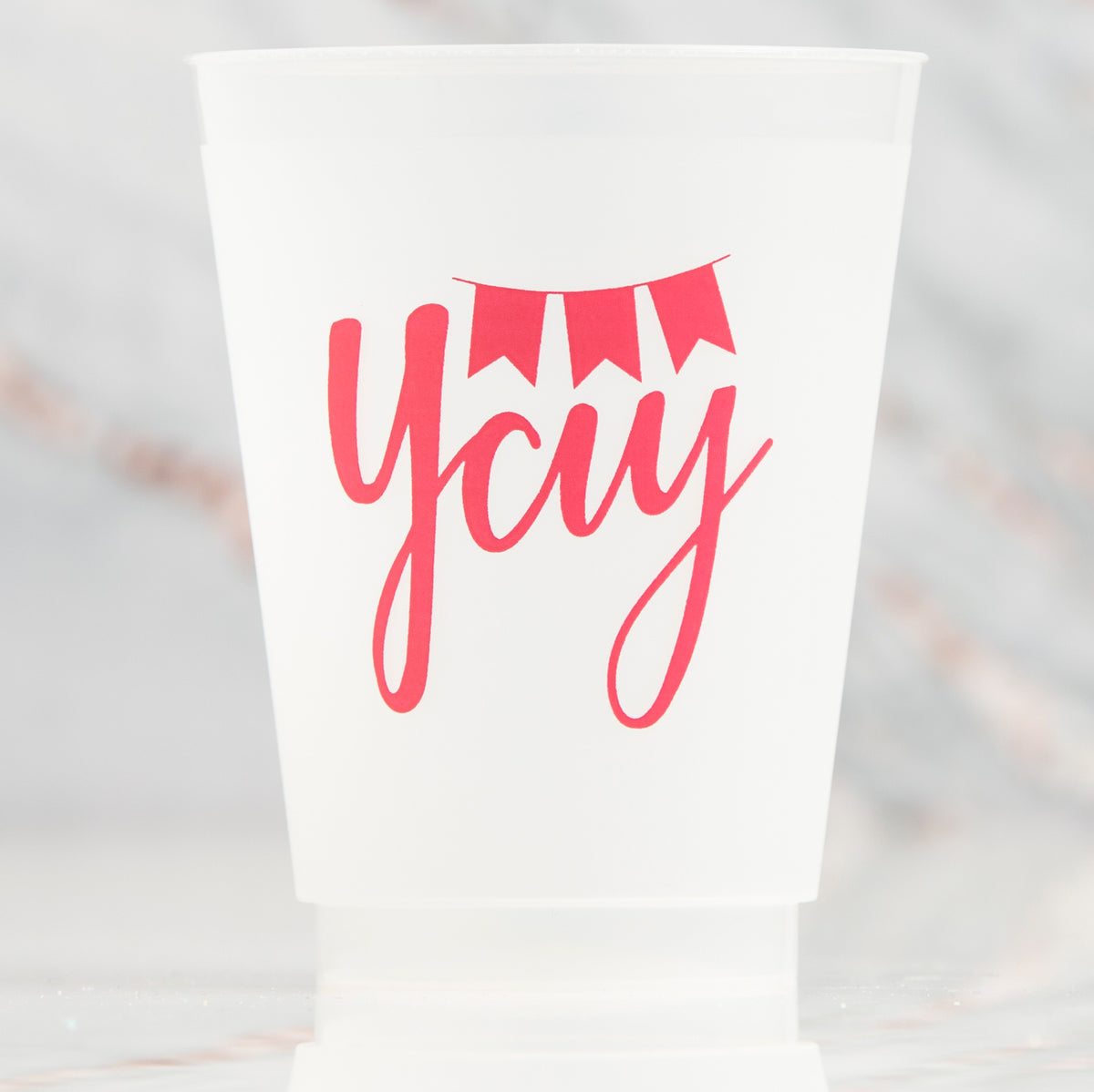 16 oz. Reusable Yay Frosted Cups