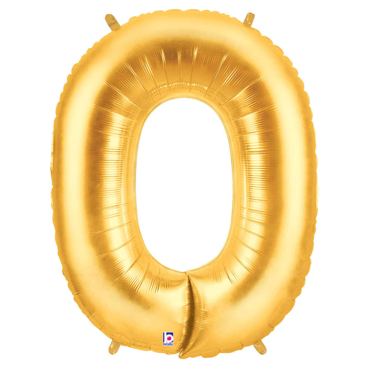 Letter O Gold 40 in. Mylar Balloon