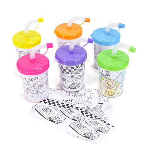Color Your Own Sipper Cups