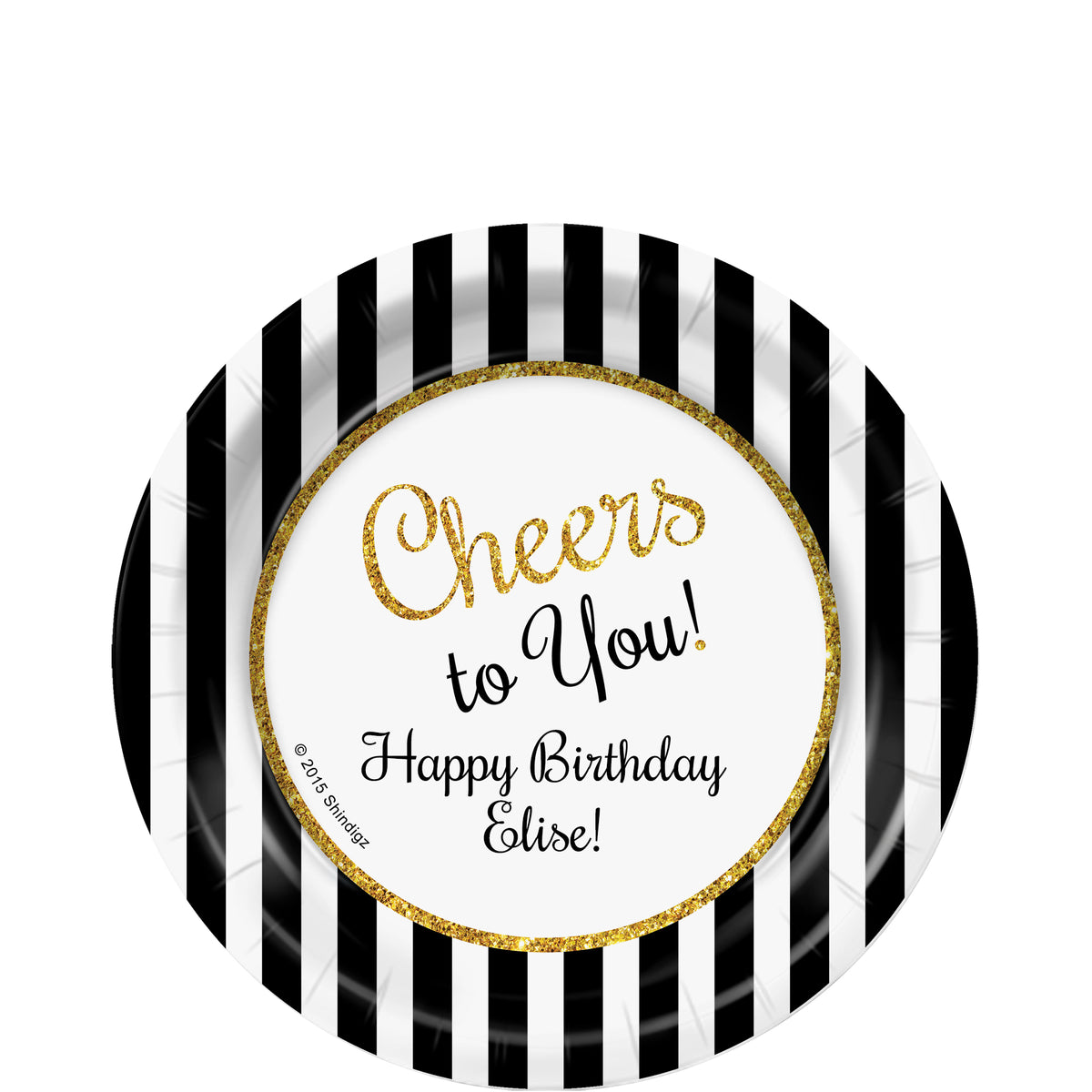 Cheers to You Gold Personalized Dessert Plates