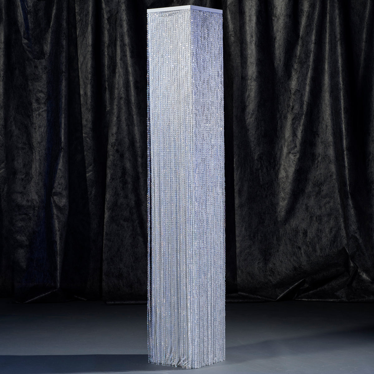 8 ft. Silver Crystal Overlay Square Column