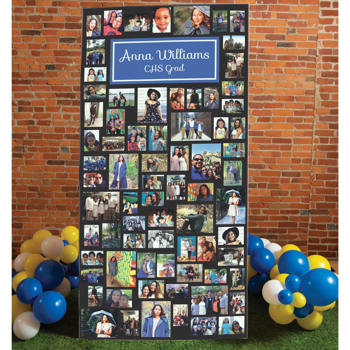 7 ft. 10 in. Graduation Photo Memory Board