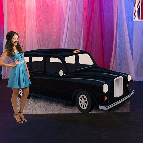 4 ft. 3 in. London Taxi Cab Standee
