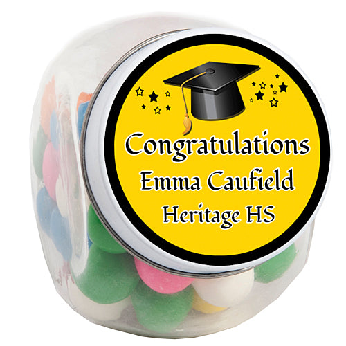 Graduation Cap Personalized Candy Jars