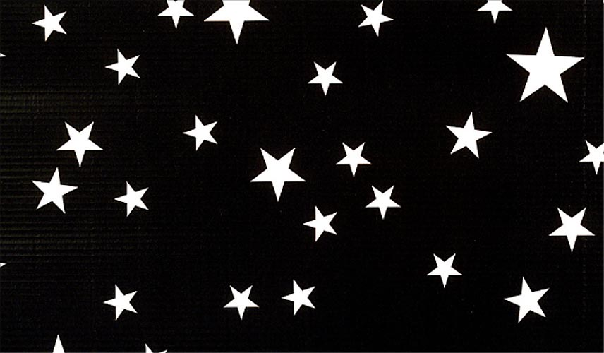 Black and White Stars Patterned Flat Paper