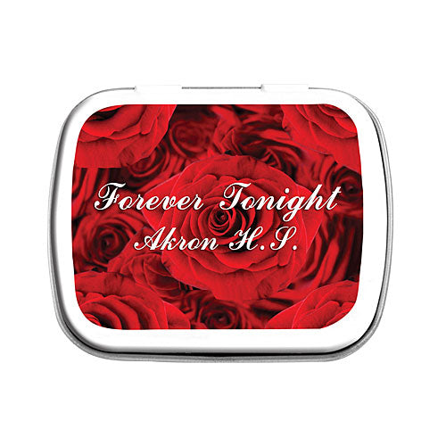 Red Roses Personalized Mint Tins