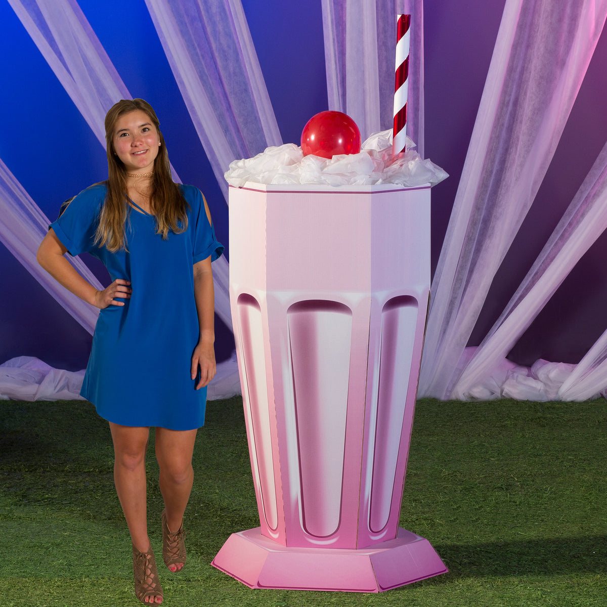 6 ft. 4 in. Sugar Rush Milk Shake Prop