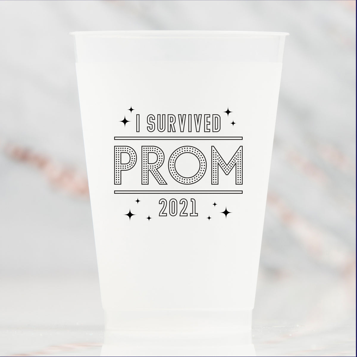 I Survived Prom 2021 Frosted 16 oz Cups pkg/10
