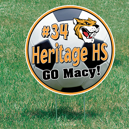 2 ft. Soccer Personalized Yard Signs