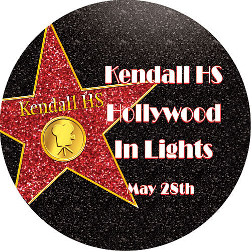 Hollywood Walk of Fame Star Static Decals