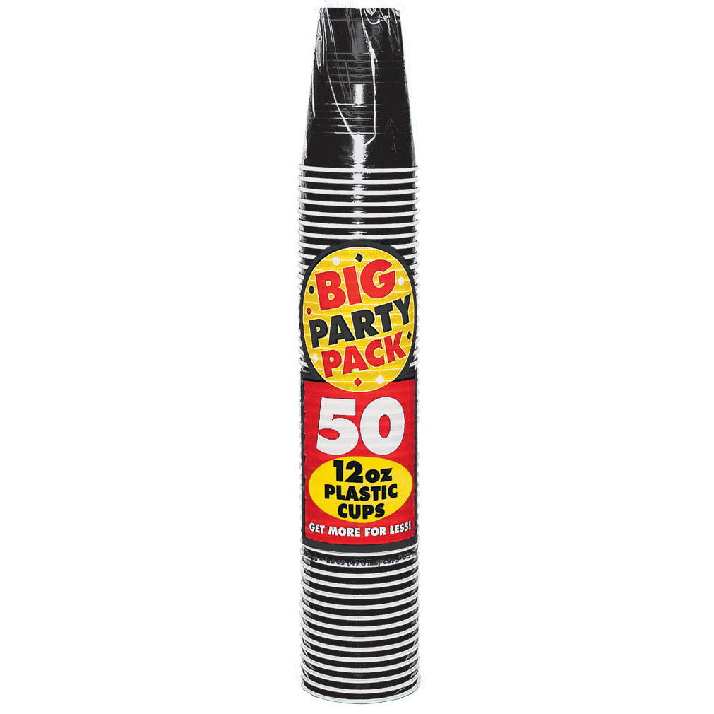 Black Big Party Pack Cups