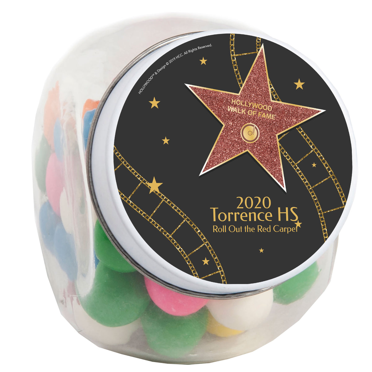 Hollywood Star Walk of Fame 3 Personalized Candy Jar