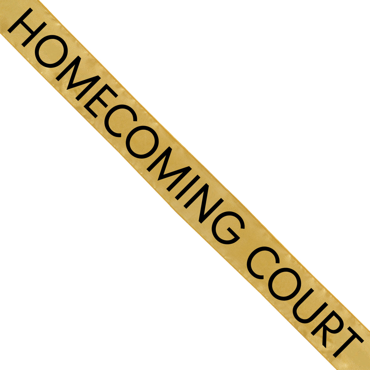 Gold Satin Homecoming Court Sash