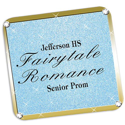Fairytale Castle Sparkle Personalized Coasters