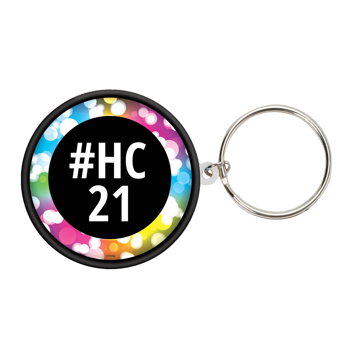 Let's Glow Crazy Personalized Key Chain