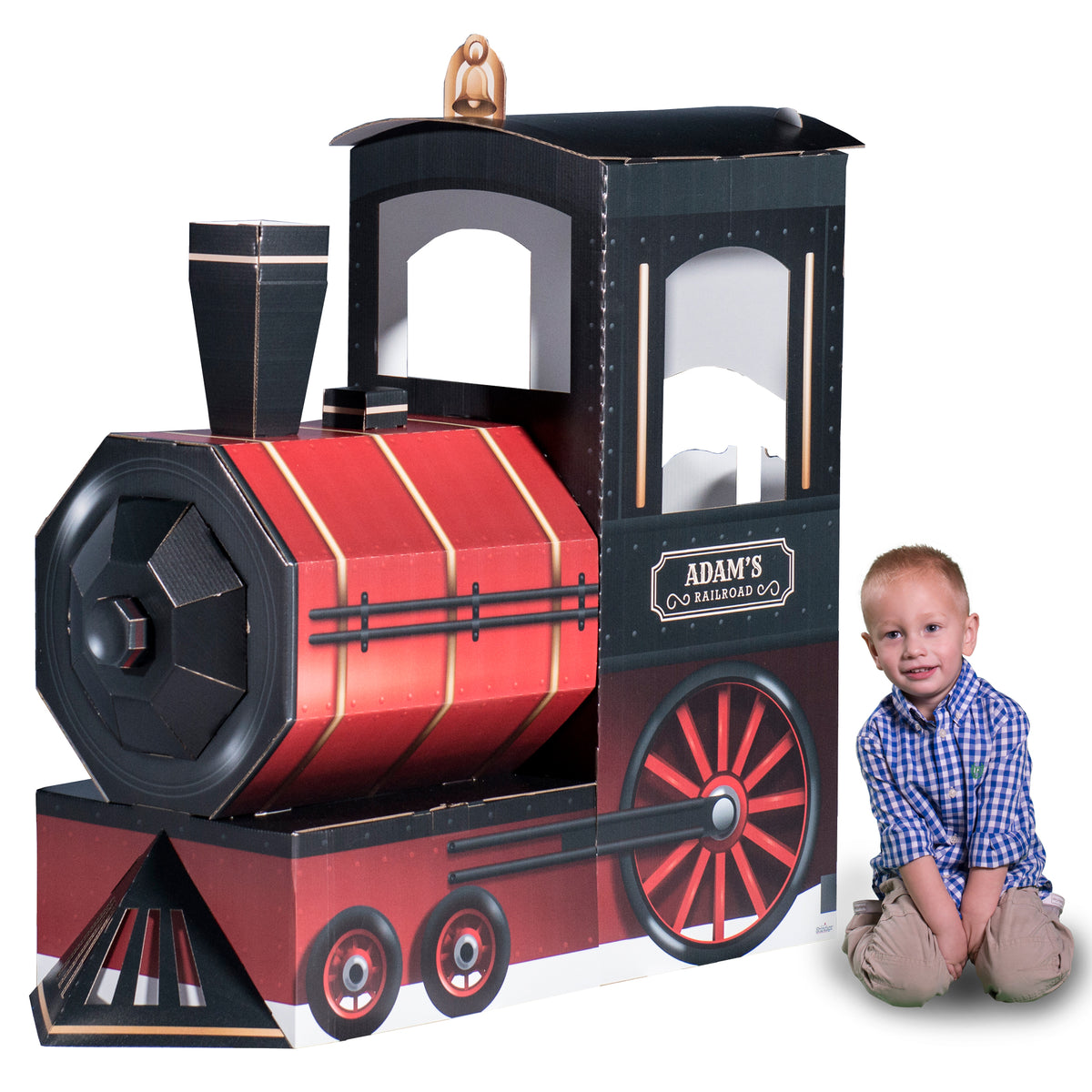 4 ft. 8 in. 3D Personalized Locomotive Prop