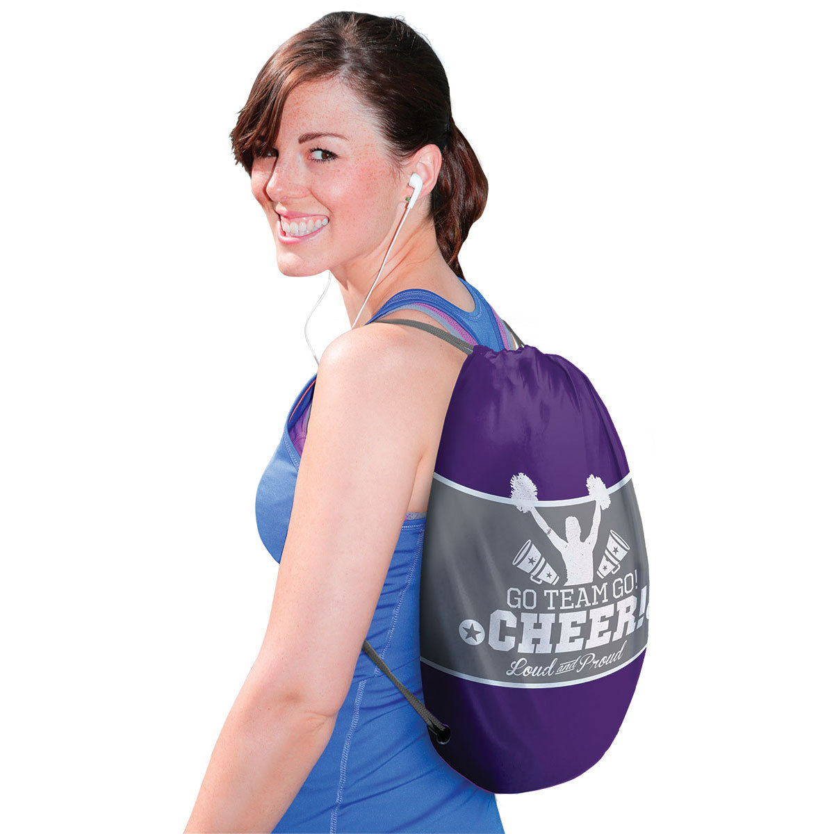 Cheer Loud and Proud Drawstring Backpack