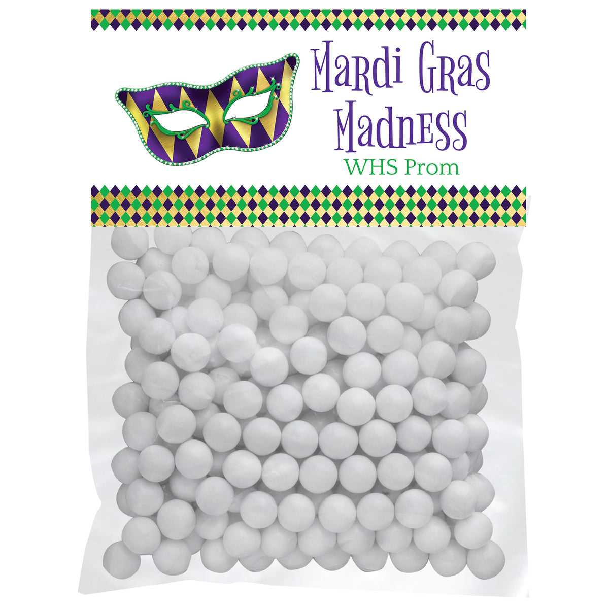 Mardi Gras Madness Personalized Favor Bags