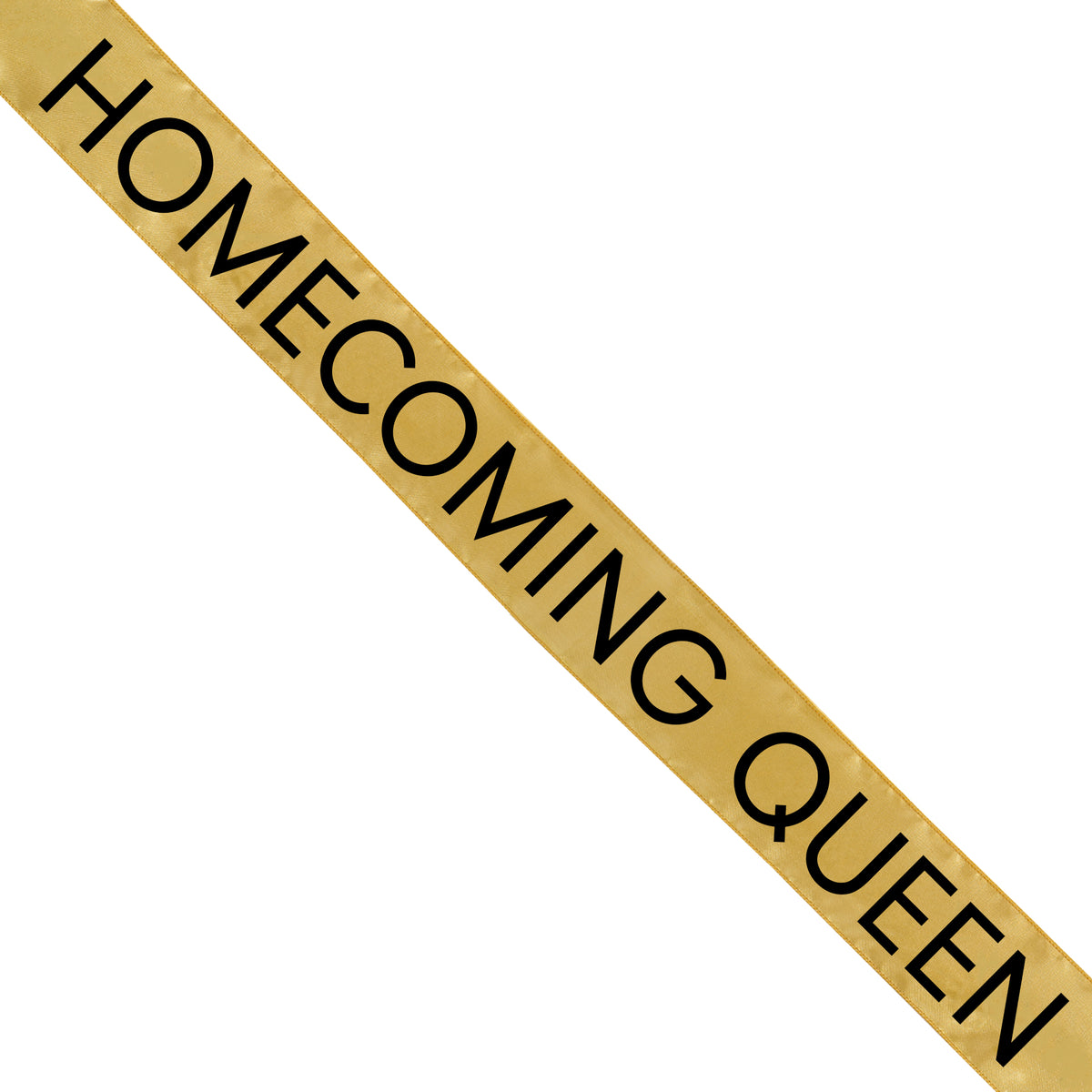 Gold Satin Homecoming Queen Sash