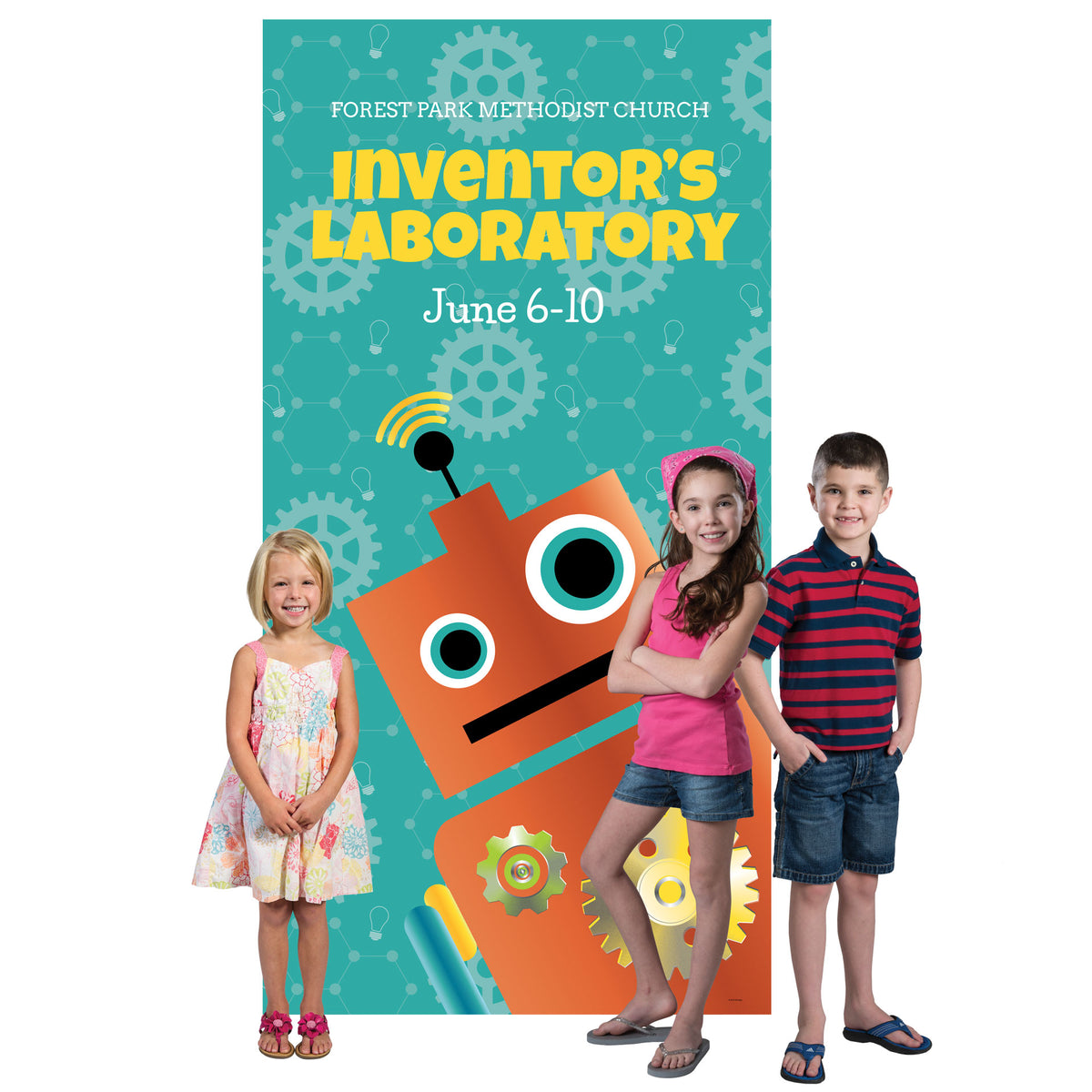 Inventor's Laboratory Personalized Photo Background