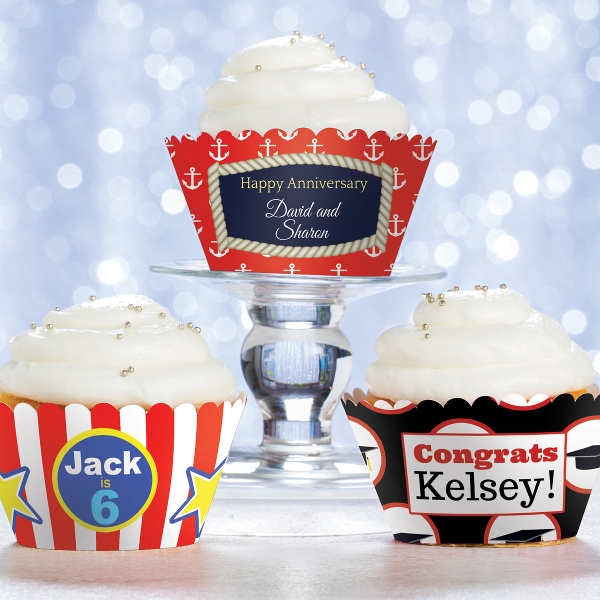 Studio 21 Personalized Cupcake Wrappers