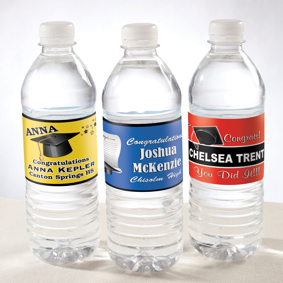 School Mascot Water Bottle Labels