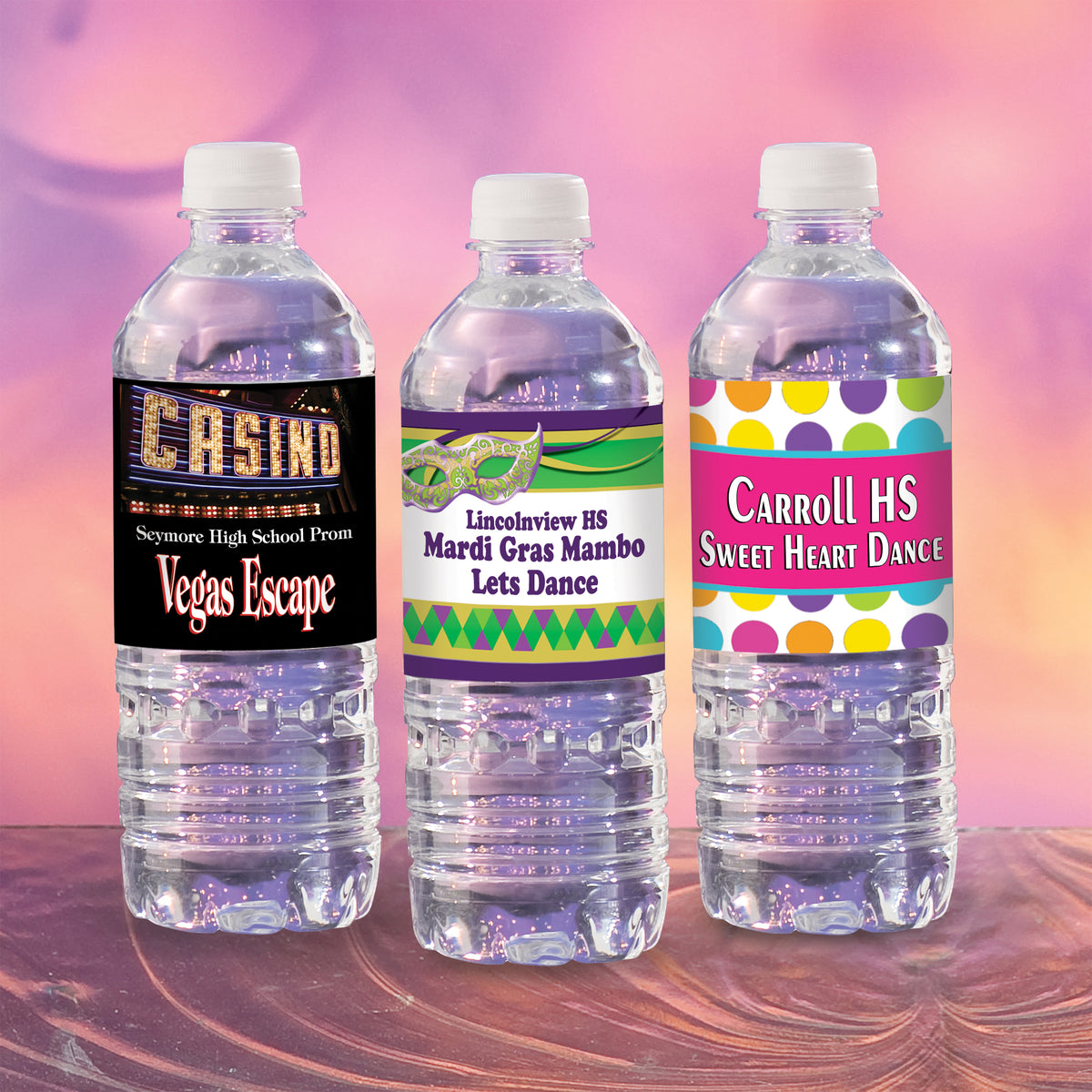 Tres Chic Custom Water Bottle Labels