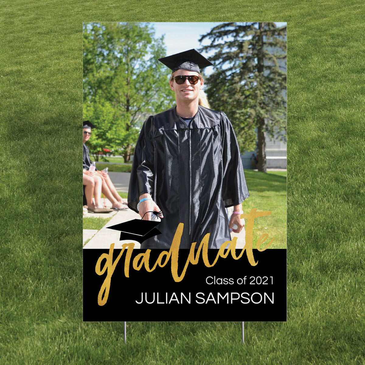 Graduation Photo Vertical Yard Sign