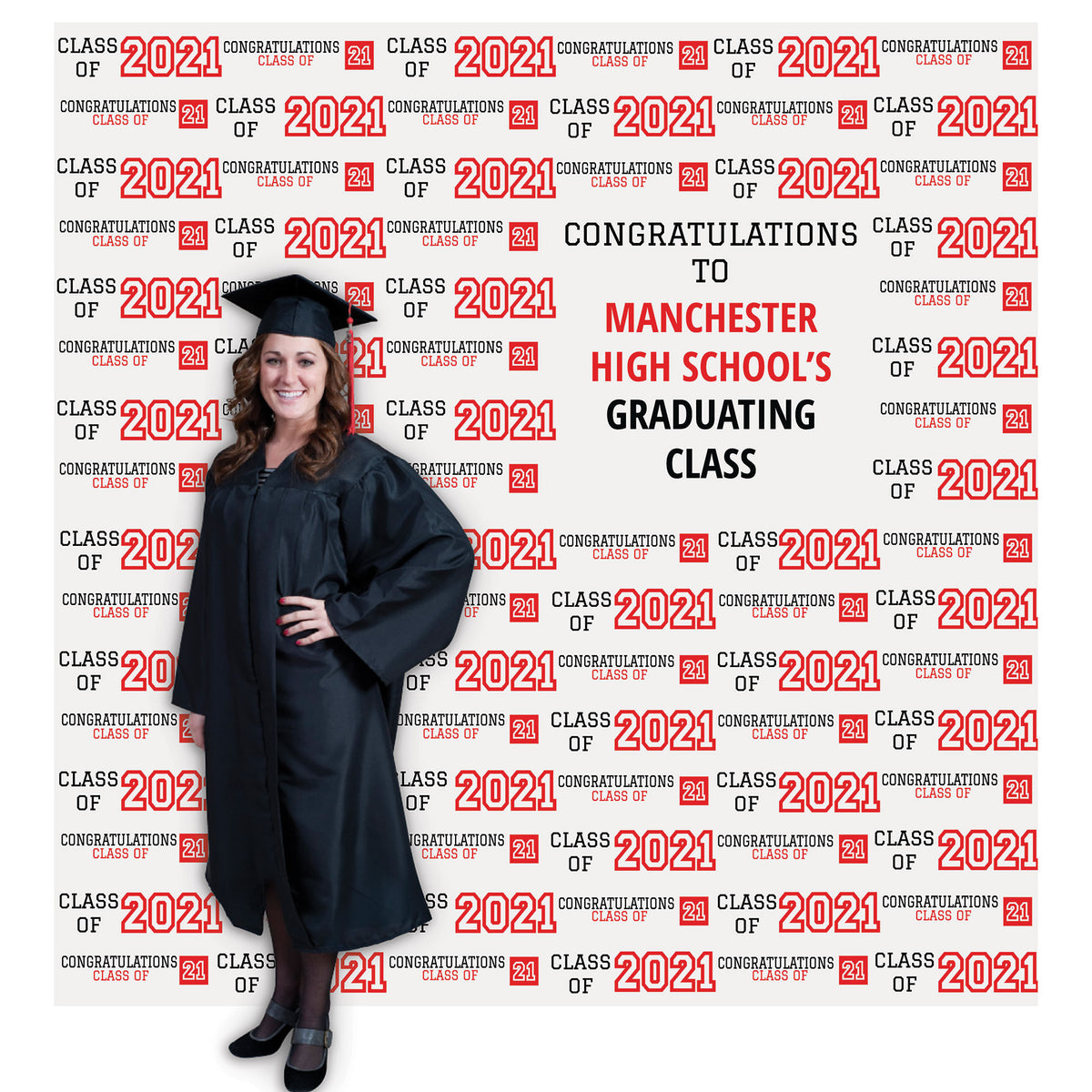 7 ft. 4 in. Graduation VIP Photo Background