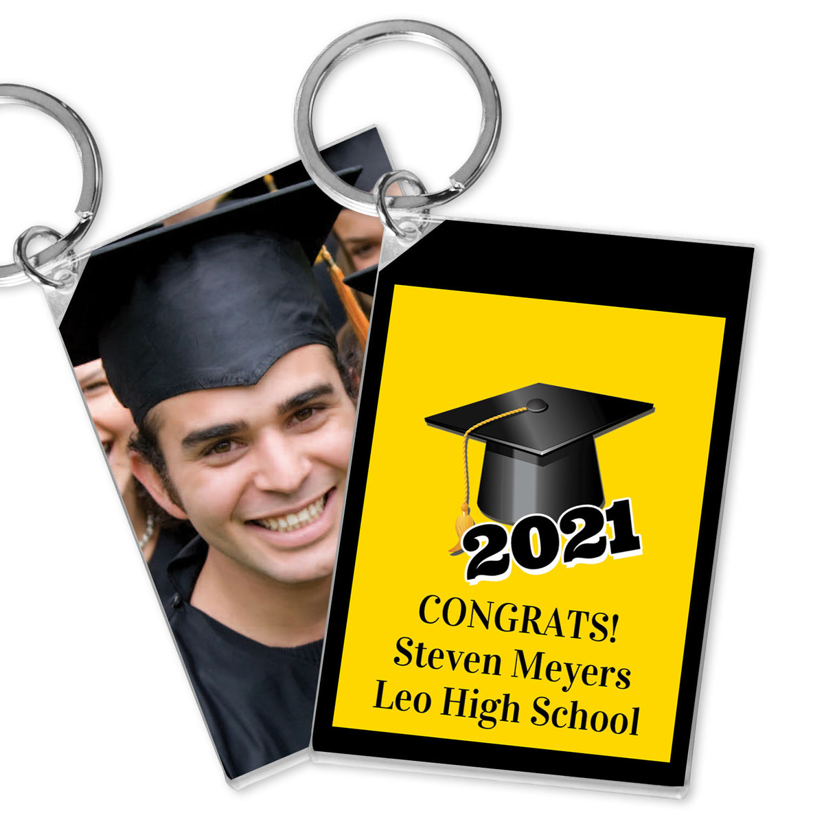 Grad Cap Personalized Acrylic Key Chains