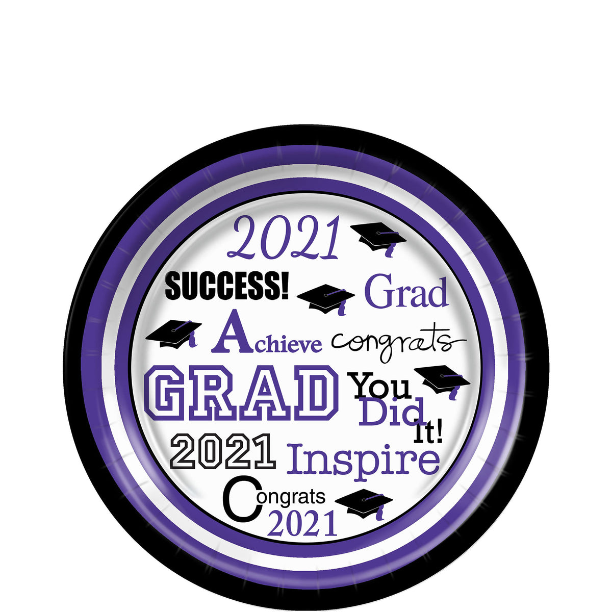 Purple Grad Success Dessert Plates