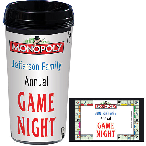Monopoly Board Personalized Travel Mugs