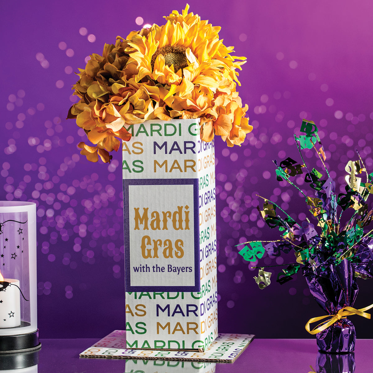 Cheers to You Gold 70 Personalized Centerpiece