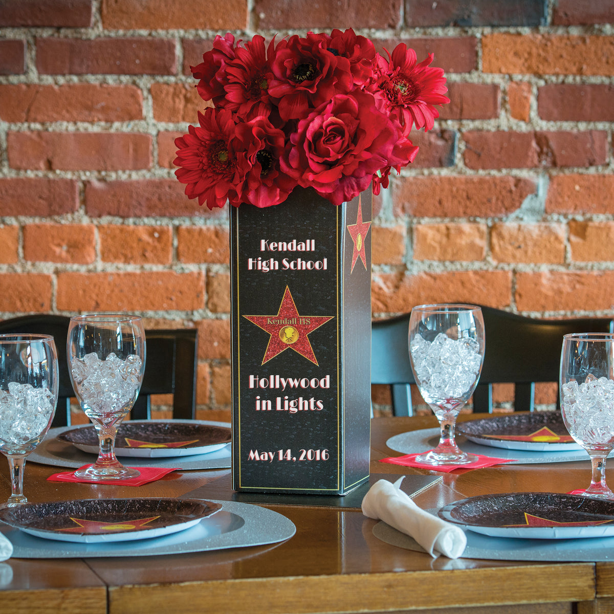 Hollywood Hills Personalized Centerpiece