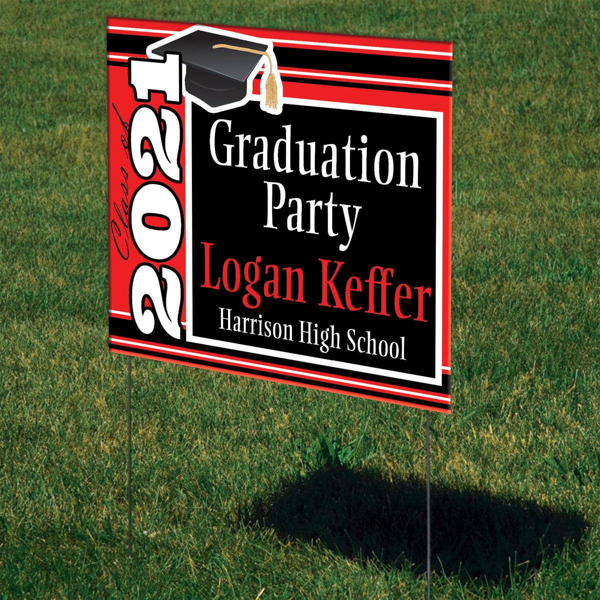 Grad Cap Personalized Yard Sign