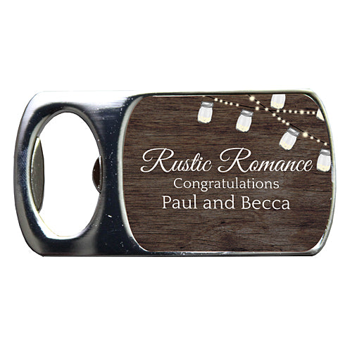 Rustic Romance Custom Bottle Openers