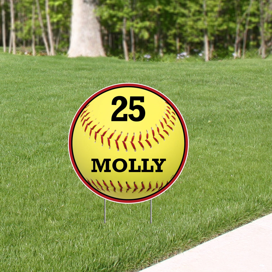 Softball Custom Corex Yard Sign