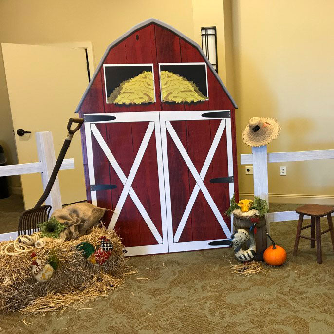 7 ft. Big Red Barn Standee