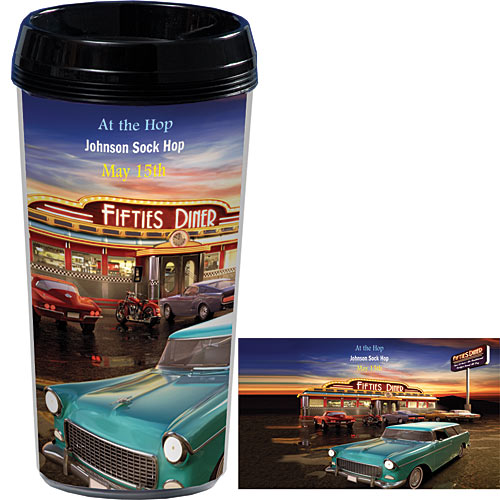 Fifties Diner Personalized Travel Mugs
