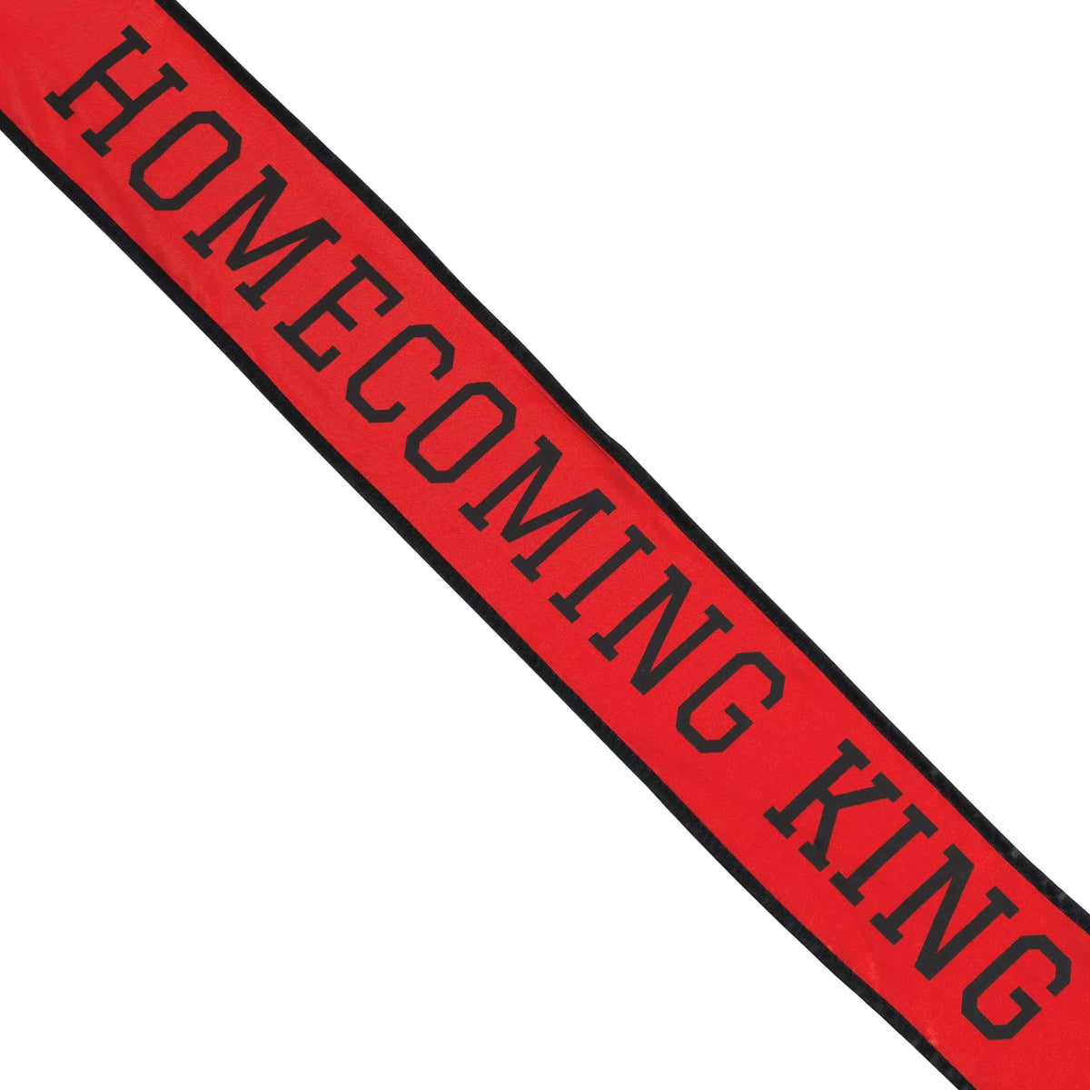 Red & Black School Color Homecoming King Sash
