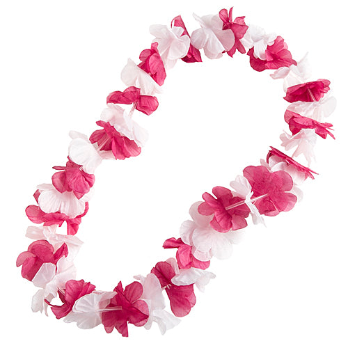 Maroon And White Leis