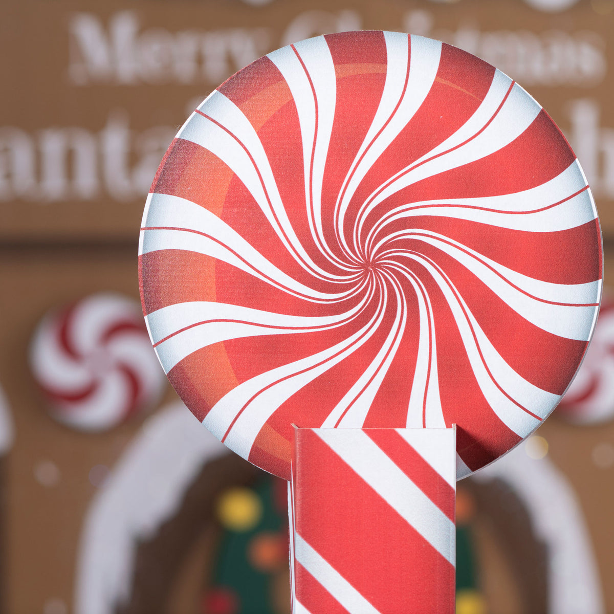 4 ft. 8 in. Christmas Candy Cane Fence