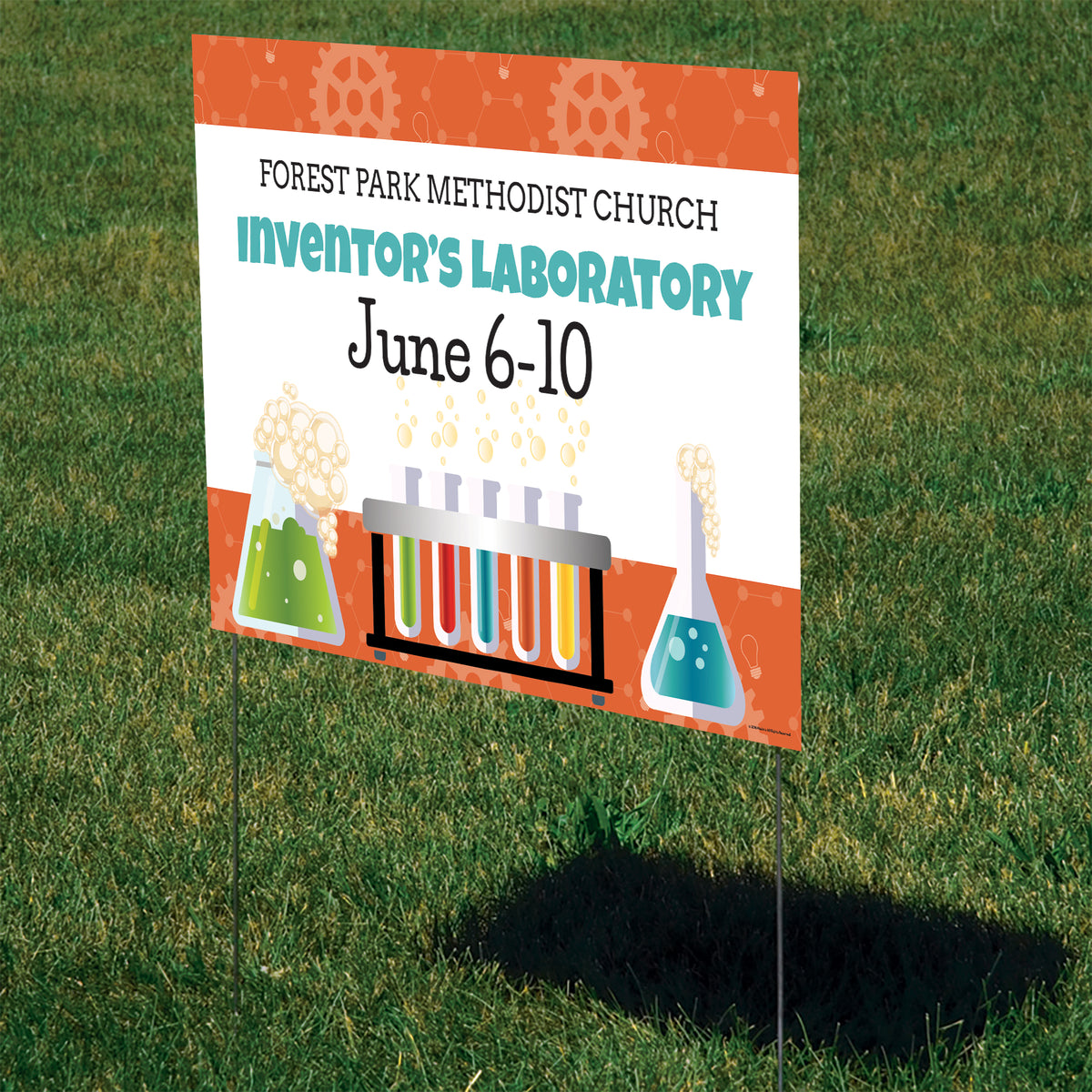Inventor's Laboratory Personalized Yard Sign