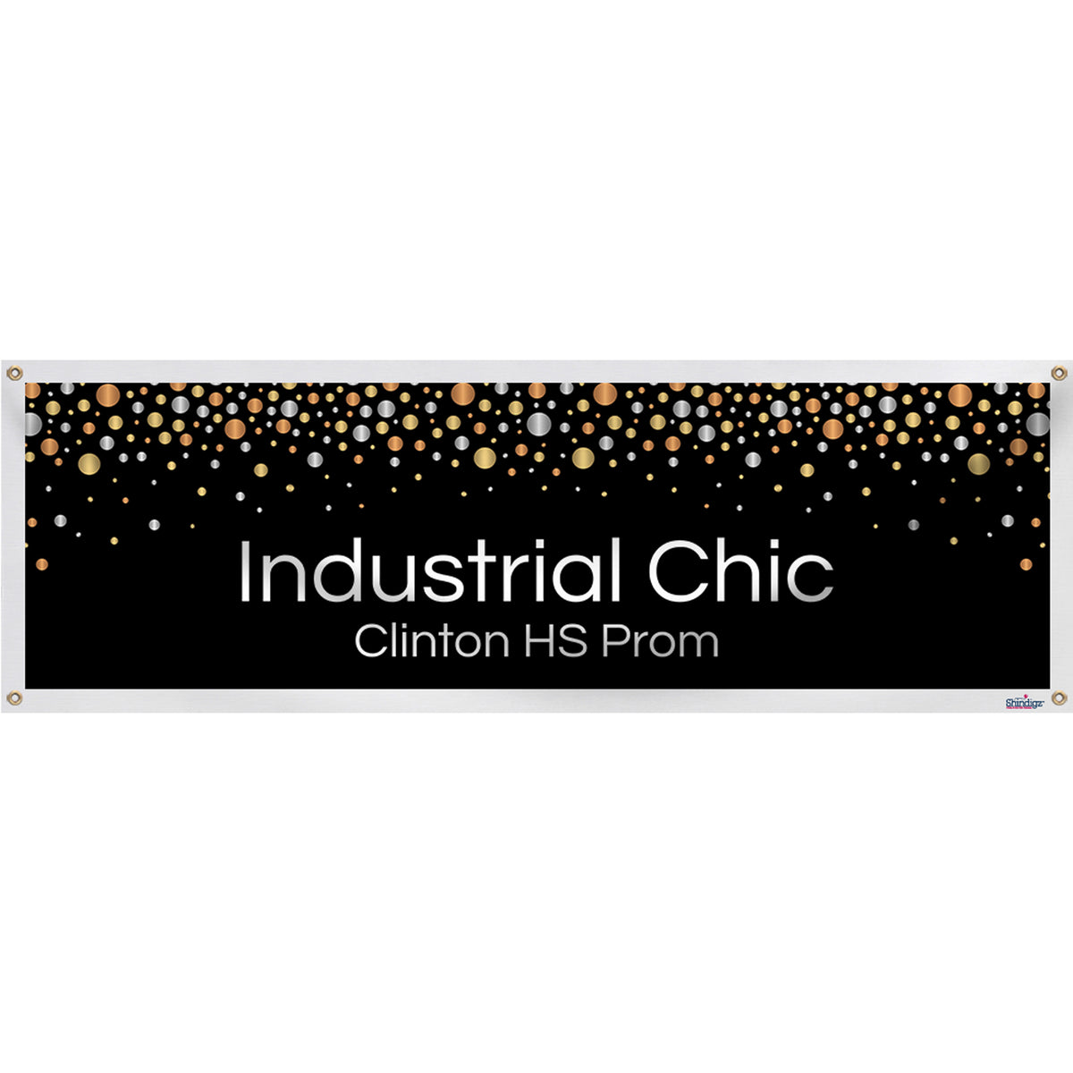 Industrial Chic Personalized Banner