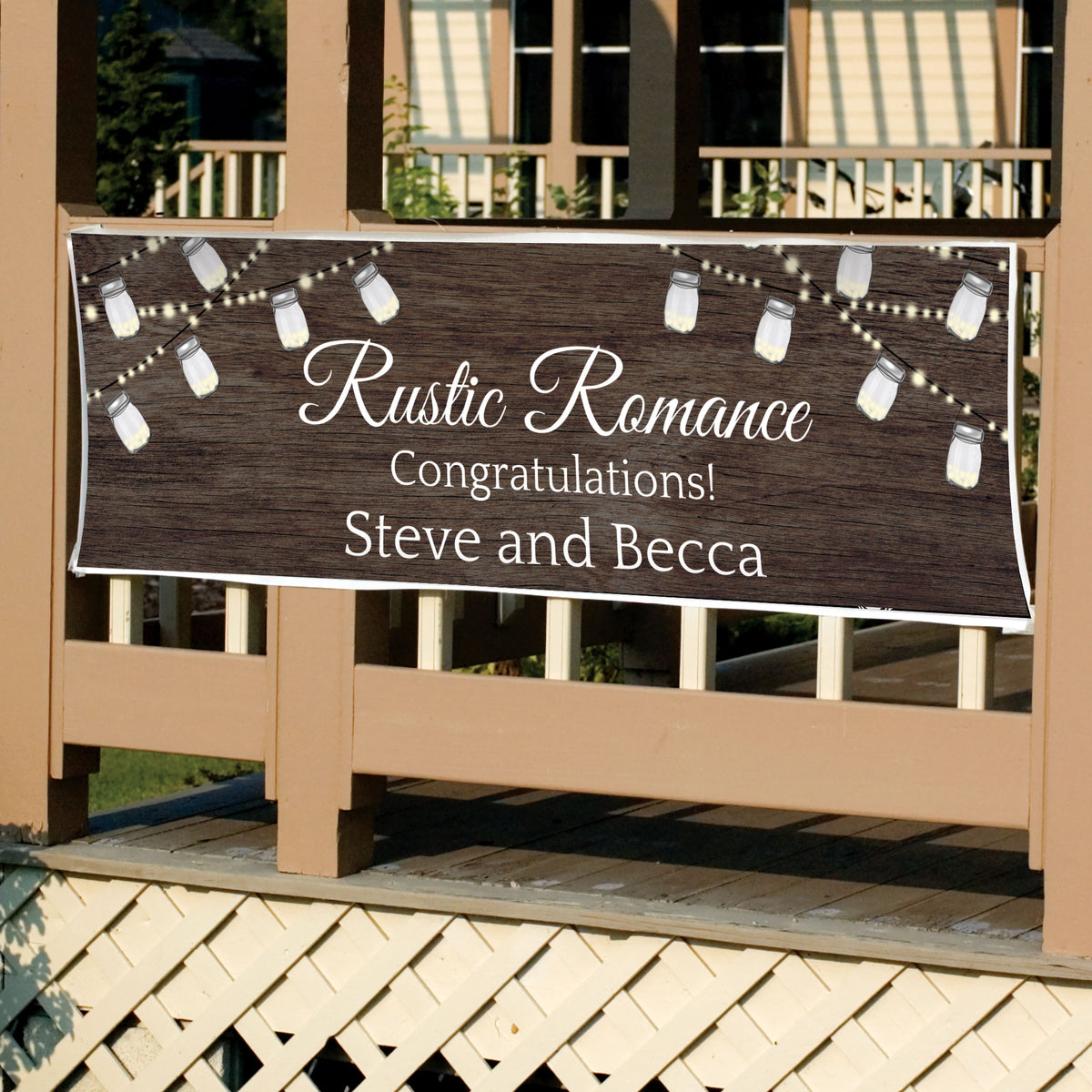 String of Lights Personalized Banner
