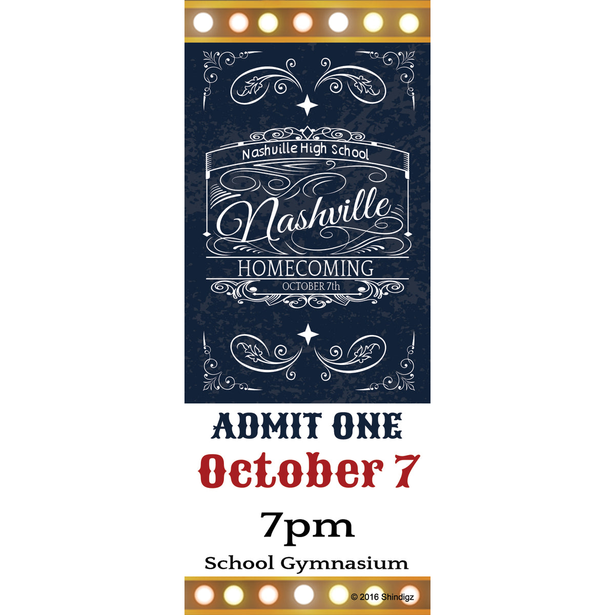 Nashville Nights Live Personalized Tickets